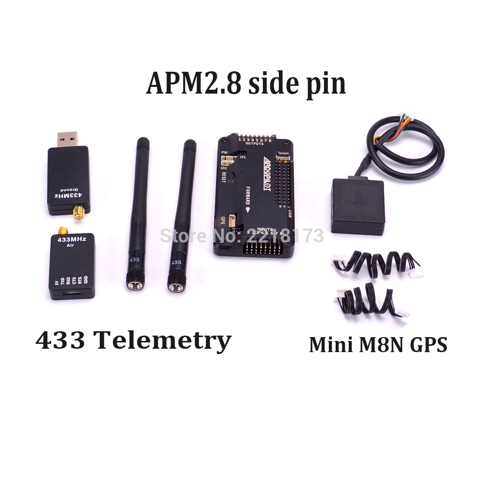 APM2.8 APM 2.8 Flight Controller Board side pin M8N GPS module 433 433Mhz telemetry For RC FPV Drone Quadcopter 1 set mini apm pro flight controller board 7m gps module power module t plug for quadcopter helicopter