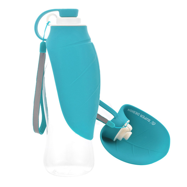 Portable Silicone Pet  Water Bottle