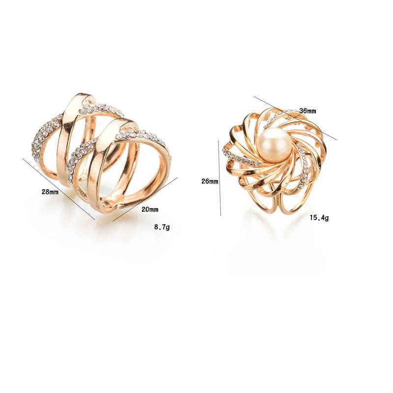 Baru Fashion Bunga Kristal Hati Simulasi Mutiara Sutra Syal Selendang Bros Vintage Bohemian Ring Klip Selendang Gesper untuk Wanita