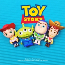 Disney Toy Story 3 Buzz Lightyear Woody Jessie 4 unids set 3 cm Q versión  PVC figuras de acción muñecas juguetes para niños mode. 65b3da951e3