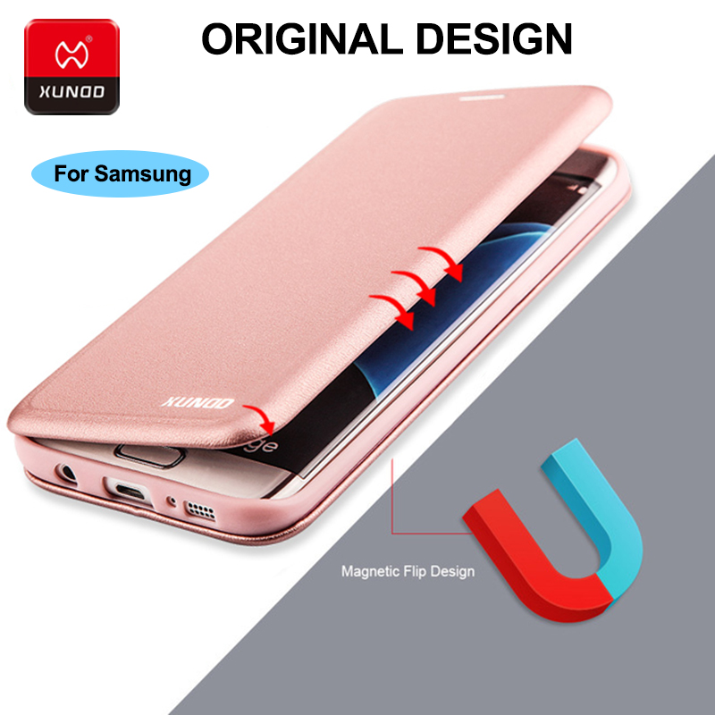 Luxury 360 Full Protect Case For Samsung Galaxy S7 Edge S9 S8 Plus Phone Leather Wallet Shockproof Protective Flip Cover Cases