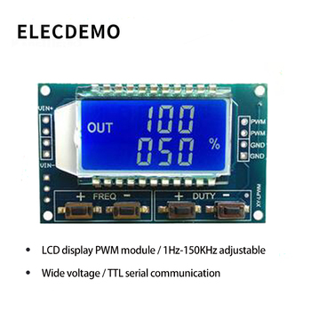 цена на PWM pulse frequency duty cycle adjustable module Square wave rectangular wave signal generator XY-LPWM