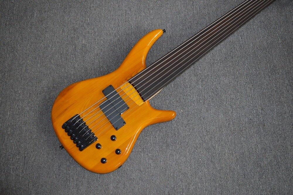 Livraison gratuite Usine personnaliser fretless basse transparent basse acrylique basse guitares 7 cordes basse électrique guitare
