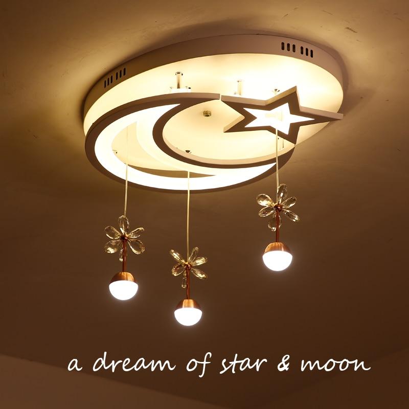 Children bedroom lamp LED ceiling lamp modern simple star moon lighting creative Princess room lamp girl lighting