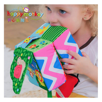 Baby Kids Toys Cartoon Animal Cube Rattle Ball Book Plush Ball Teether Toys Cubes for Children Newborns Baby Soft Mobile Rattles