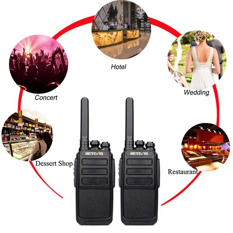 4 pièces rechapé RT28 talkie-walkie PMR Radio VOX PMR446/FRS Micro USB charge Portable Mini émetteur-récepteur de Station de Radio bidirectionnelle - 6