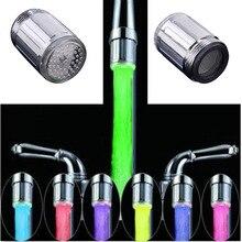 Светодиодный светильник с подсветкой, водопроводный кран для душа, кран для раковины, насадка для воды для ванной комнаты, кухонный обогреватель, смесители, термостат, синий, 3 вида цветов, 7 цветов