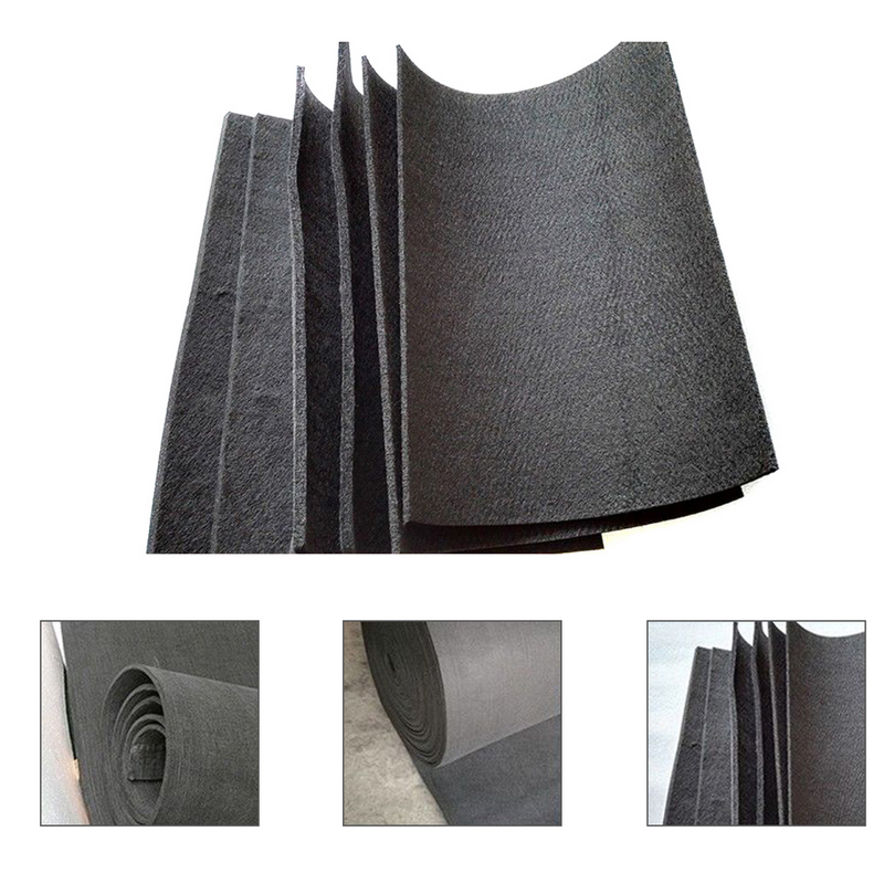 Mayitr 2 Sheets Graphite Carbon Felt High Pure Carbon Graphite 3mm / 5mm / 8mm / 10mm Carbon Fiber Felt 20x30cm High Quality