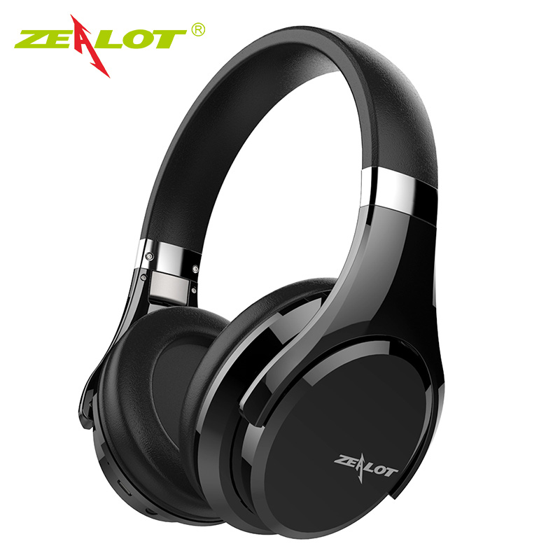 ZEALOT B21 Deep Bass Portable Touch Control Wireless Bluetooth Over-ear Headphones with Built-in Mic for iPhone 6 6s 7/7 Plus mqbix mqht470blk 2 in 1 combo pack earfoam plus high performance in ear earphones with built in mic and deep bass stereo headphones