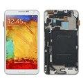 """5.7 """"para samsung galaxy note 3 n9005 display lcd touch screen digitador moldura quadro assembléia completa substituição botão home"""