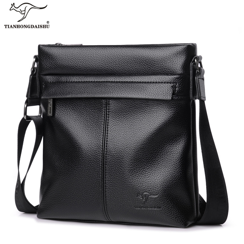 Kangaroo Brand Genuine Leather Men Shoulder Bag Fashion High Quality Male Travel Business Soft Leather Small Men Messenger Bags safebet brand crocodile pattern fashion men shoulder bags high quality pu leather casual messenger bag business men s travel bag