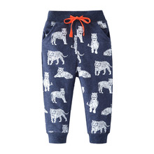 Children Winter Clothes Baby Boys Sweatpants Cartoon Tiger Printed Cotton Full Trousers for New Cute
