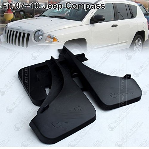 Automotive 4PCS Rear Car Accessory Mudguard Mud Flaps Splash Guard Fit For 2007 2008 2009 2010 JEEP COMPASS Free Shipping
