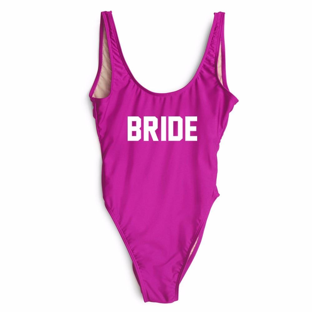 Baño letra mujeres bodysuits sexy novia de baño del corte del ...