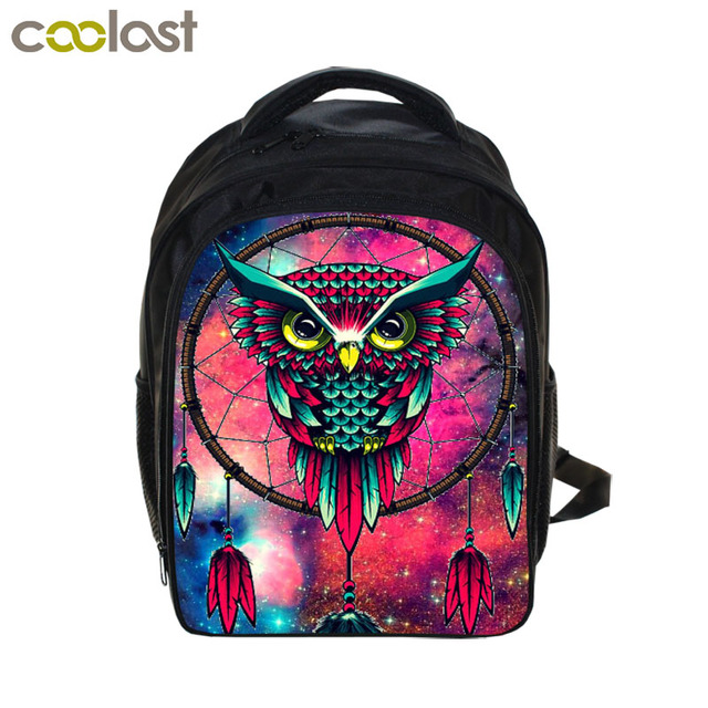 13 Inch Owl Dream Catcher Backpack Children School Bags Cartoon ...