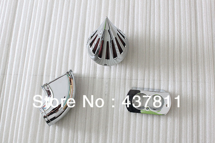 Eonstime Chrome Spike Air Cleaner Kits Intake For Kawasaki Vulcan 1500 1600 Meanstreak motorcycle spike air cleaner intake filter for 1995 up kawasaki vulcan 800 vn800a vn800 classic