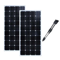 Pannello Solare 12 v 150w 2Pcs Solar Panels 24v 300w Solar Home System Camping Car Caravane Rv Motorhoem Solar Battery Charger