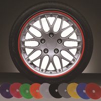 800CM Car Styling Tyre Rim Stickers Tire Protection Decoration Automobile Hub Wheel Stickers Protector