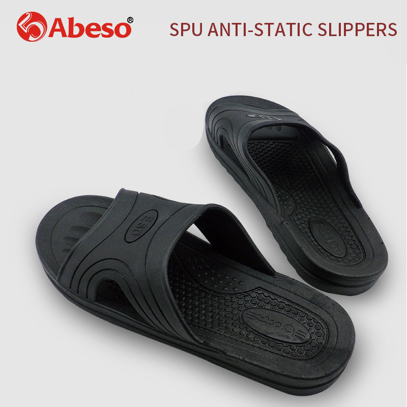 Abeso Safty Shoes Durable Antistatic SPU Slippers ESD Working Shoes For Men Women Non-slip Breathable Slippers A8616