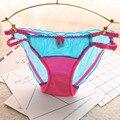 ВЫСОКОЕ КАЧЕСТВО!! японский Стиль Дети Трусики Прозрачные Кружева Девушки Underwear Прекрасный Молока Шелковые Трусики Детская Одежда