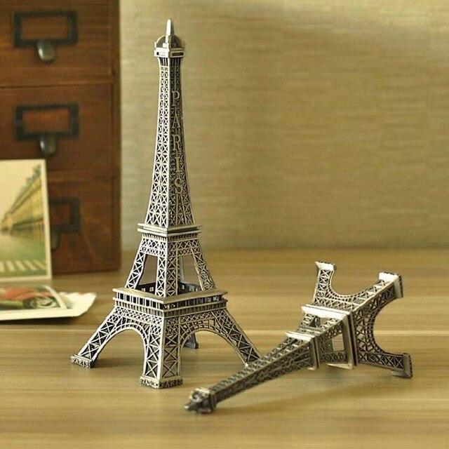 5pcs Lot Bronze Tone Paris Eiffel Tower 10cm Vintage Alloy Model Wedding Party Birthday Gift