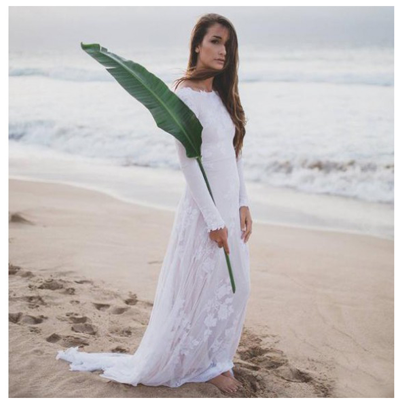 SoDigne Mermaid Wedding Dress 2019 Beach Bridal Gown Chiffon Lace Appliques White Ivory Romantic Wedding Gown custom made in Wedding Dresses from Weddings Events
