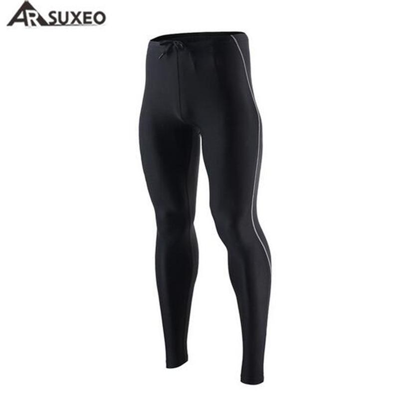 ARSUXEO Ciclismo Esportes dos homens Meias De Compressão Em Execução Calças de Fitness Yoga Ginásio de Esportes dos homens Calças de Roupas sportswear