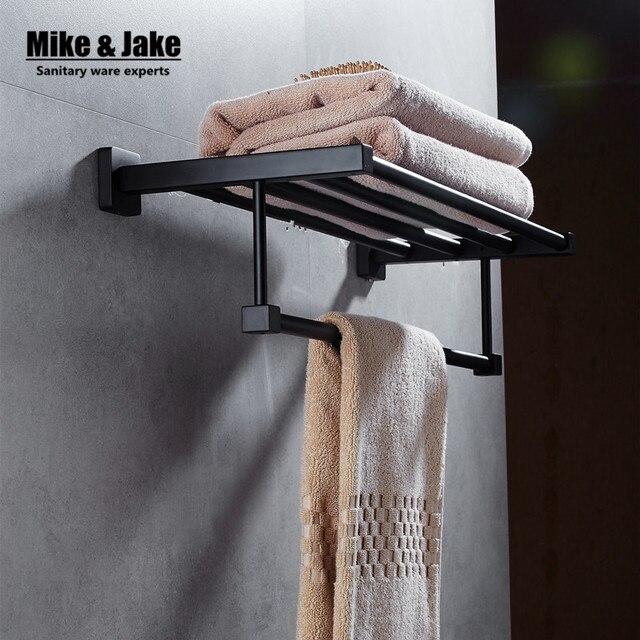 Zwart handdoekenrek Zwart ons stijl badkamer handdoek plank bad ...