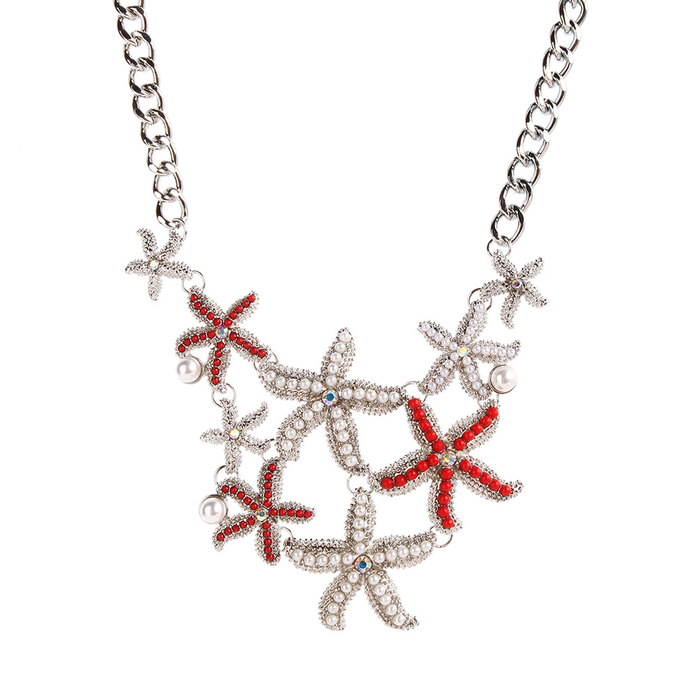 Summer Beach Choker Necklace Pendant With Sea Star For ...