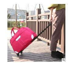 2016 brand Travel Trolley Bag For Women FemaleTravel Trolley Luggage  Bag on wheels Travel Duffle  Waterproof  Rolling Suitcase