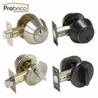 Probrico скрытый дверной замок ручной засов с ключами один цилиндр Невидимый механический наружный замок для прохода дверное оборудование