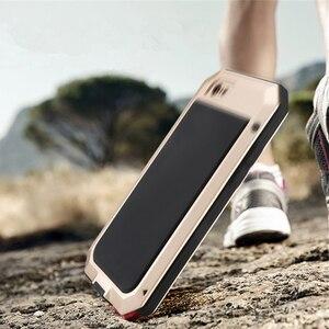 Image 4 - יוקרה שריון חיים הלם Dropproof עמיד הלם אלומיניום הסיליקון מקרה עבור iPhone 8 7 6 6S בתוספת X Xs מקסימום xr מתכת מגן כיסוי