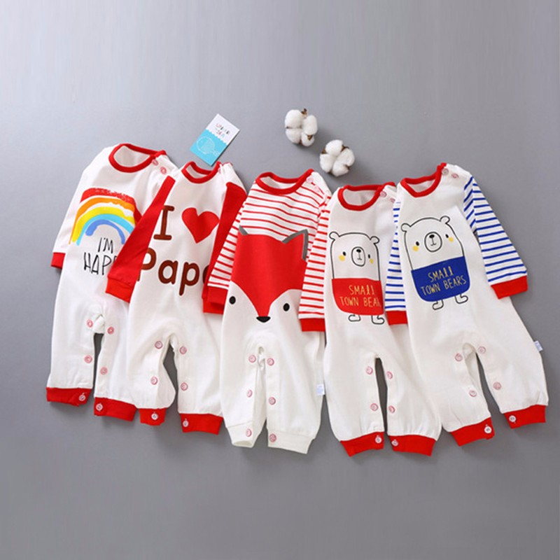 fashion baby boys romper rainbow baby clothes long sleeve cotton warm baby girl romper newborn winter clothes baby boy jumpsuit winter baby romper newborn boy girl costume baby clothes unisex long sleeve romper newborn jumpsuit