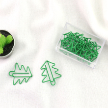 TUTU Free shipping office accessories green metal christmas tree paper clip bookmark book mark cute H0148