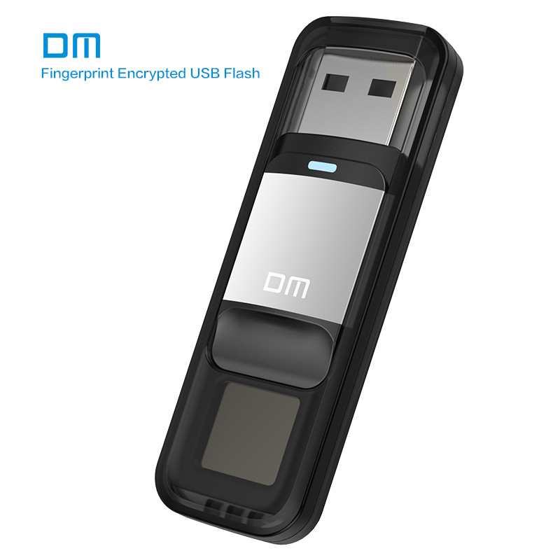 DM PD061 USB3.0 32 GB 64 GB U Disque De Stockage USB Flash Drive Pen Drive avec Cryptage D'empreintes Digitales Fonction D'or/Ruban C