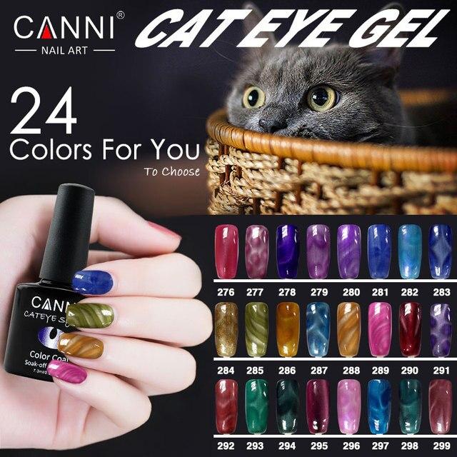 51023 CANNI Wholesale 24 Color Magnetic Nail Polish Gel Varnish ...