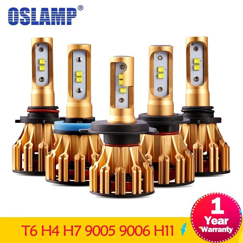 Oslamp T6 Serie H4 H7 H11 9005 9006 LED Car Headlight Bulbs 6500K 70W/Pair Hi-Lo Single Beam Automobile Headlamp Fog lamp 12V