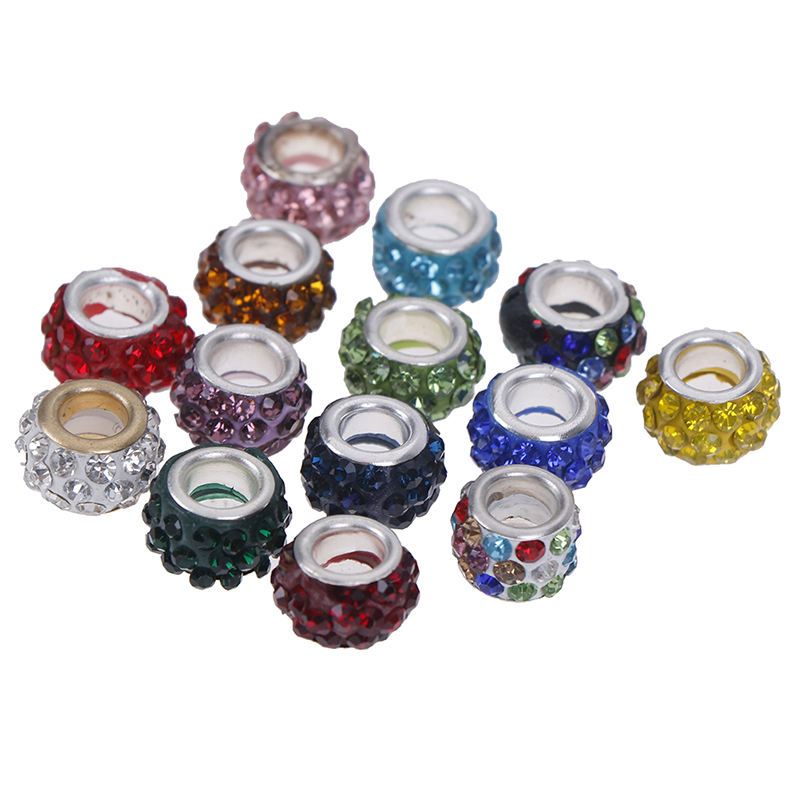 12pcs/lot DIY Fashion Colorful Rhinestone Beads Shoe Decorations Shoelace Accessories