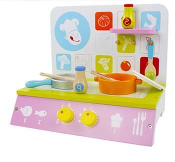 New wooden toy Wooden simulation play small kitchen hearth toys Fancy early education toys wooden blocks baby toy