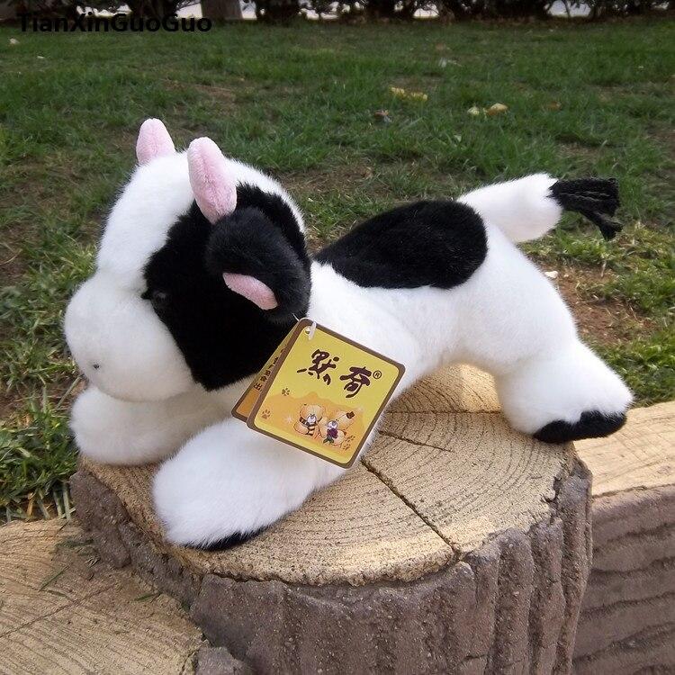 Grand 40 cm dessin animé vache en peluche jouet belle vache laitière sujette douce poupée cadeau d'anniversaire s0088
