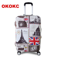 "OKOKC Tower Travel Luggage Suitcase Protective Cover for Trunk Case Apply to 19""-32"" Suitcase Cover Thick Elastic Perfectly"