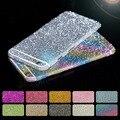 Para iphone 6 6 s forma glitter etiqueta da caixa da pele para a apple iPhone6/6 s 4.7 polegada de Corpo Inteiro Filme Frente Para Trás Capa Strass H411
