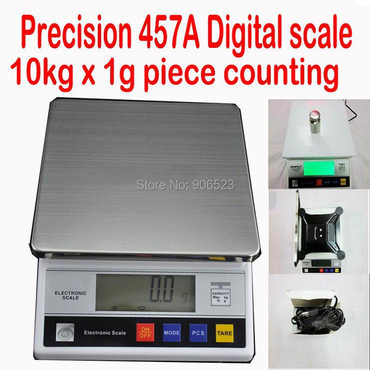 Precison digital bench scale 457A 10KG x 1g piece counting bench top scale food weighing kitchen