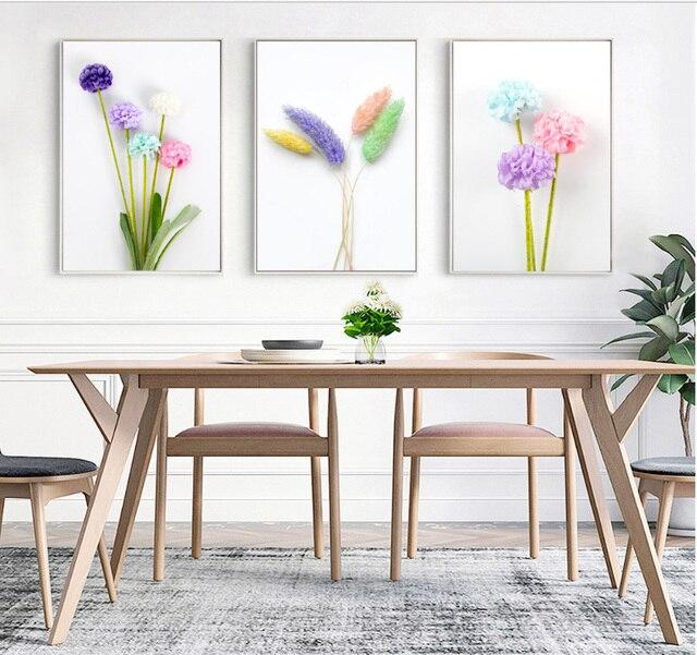 3 STÜCKE Mode Spray Gemälde Auf Leinwand Gemalt Garten Blumen Gras  Skandinavischen Minimalistischen Rahmenlose Malerei