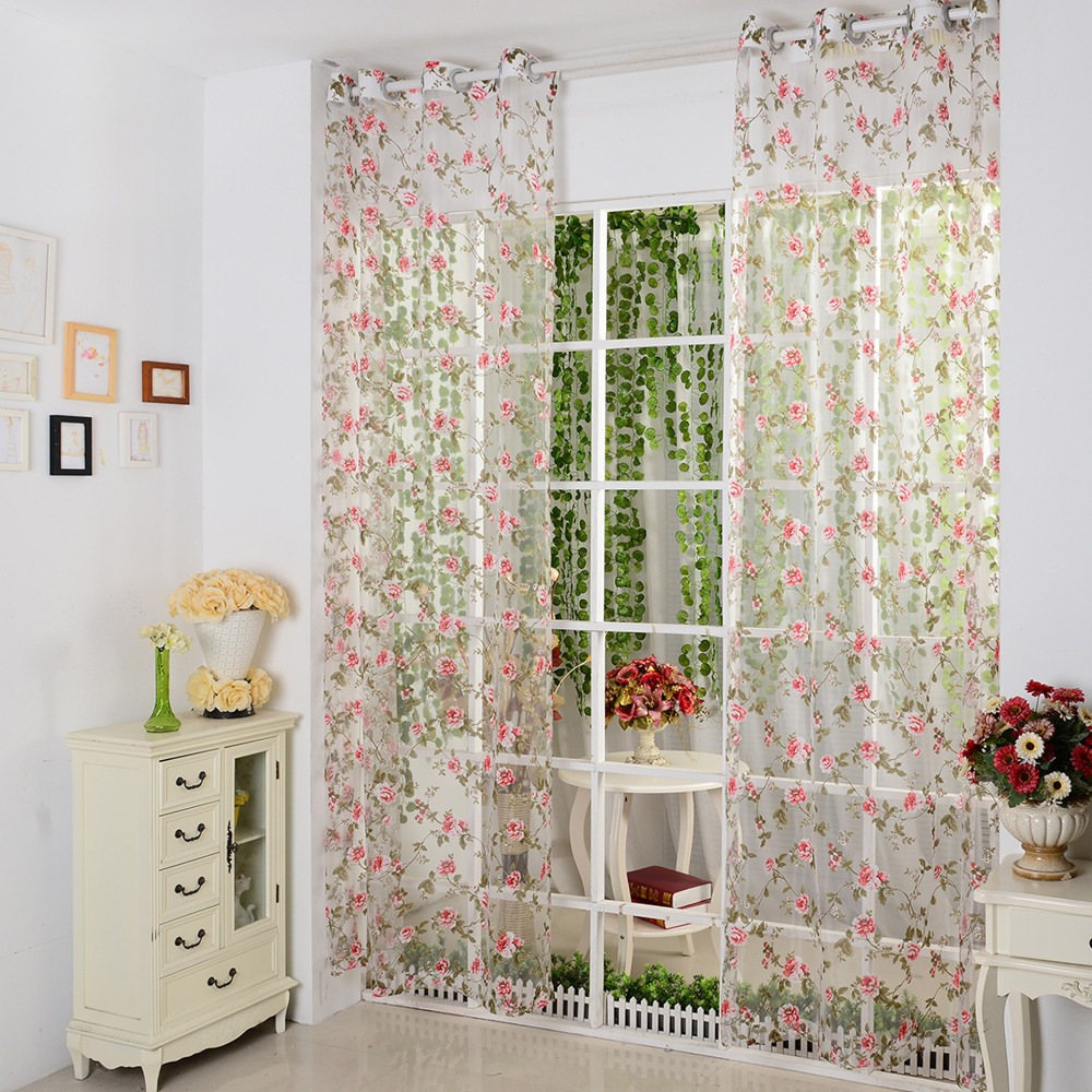Gardinen Rot Us 5 99 Isinotex Fenster Vorhang Voile Stoff Rot Floral Transparent Burnout Sheer Wohnzimmer Tüll Voile Screening 1 Teile Los In Isinotex Fenster