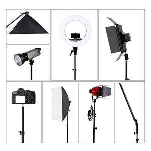 Image 5 - Profesyonel ayarlanabilir 1.84M işık standı Tripod ile 1/4 vida kafa fotoğraf stüdyosu için yanıp sönen fotoğraf aydınlatma Softbox