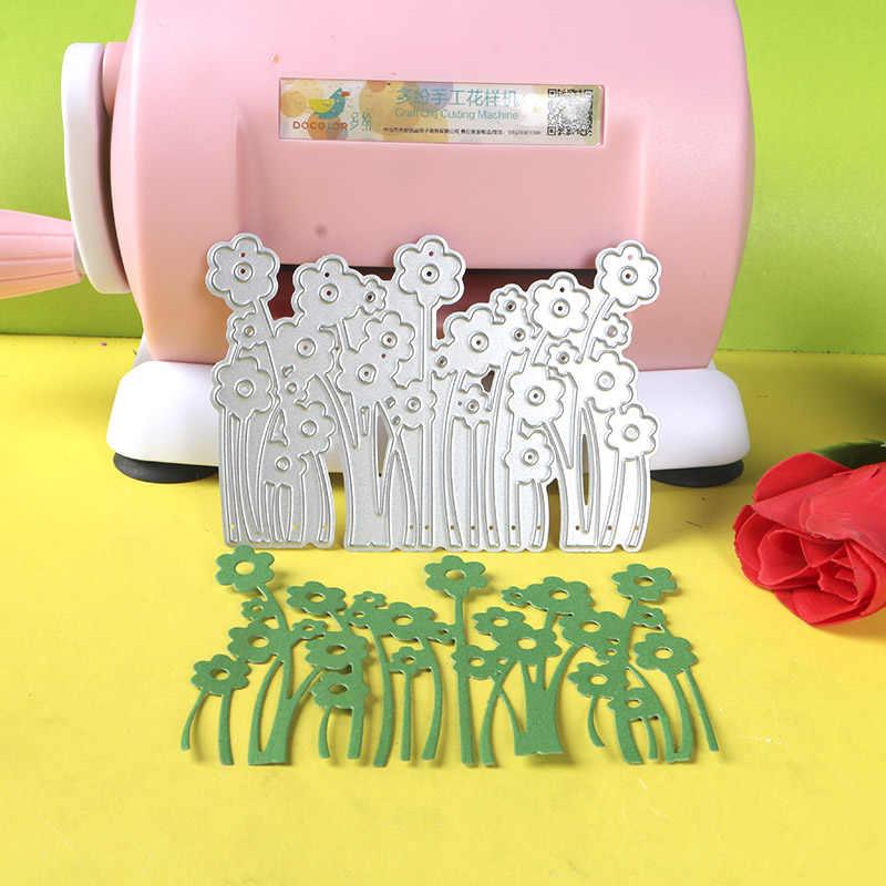 CORTE DE METAL MORRE 020014 1 DUOFEN pc pequenas flores rendas recorte oco embossing stencil DIY Papel Scrapbook Álbum 2018 novo