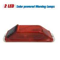 Solar advertencia sensible a la luz estroboscópica Flash de advertencia LED de precaución lámpara montada al aire libre en balaustres de entradas