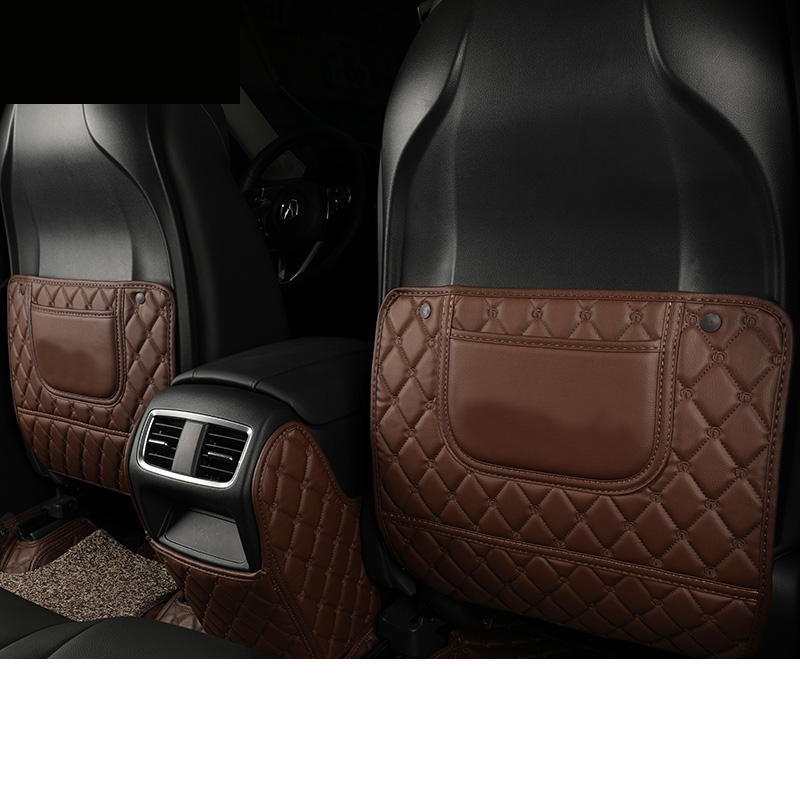 Lsrtw2017 Leather Car Rear Seat Amrest Box Anti Kick Mat
