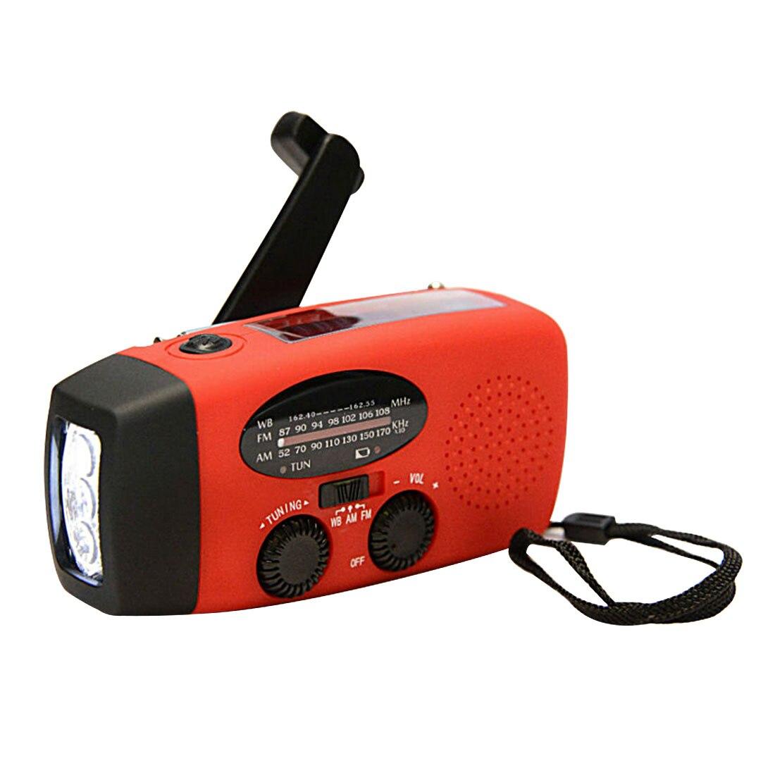Portable Audio & Video Marsnaska Solar Radio Hand Crank Self Powered Phone Charger 3 Led Flashlight Am/fm/wb Radio Waterpr Waterproof Shock-Resistant And Antimagnetic Radio